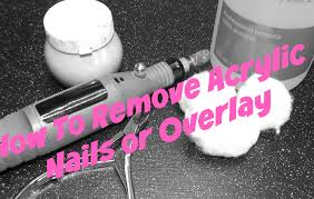 how to remove acrylic nails or overlay at home video included
