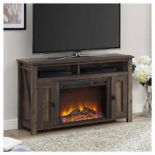 brown media heritage pine electric fireplace maxwell with tv