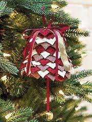 94 best folded fabric ornaments images on quilted