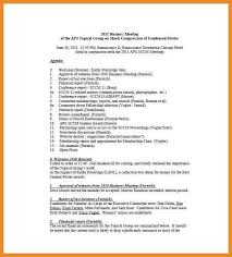 sample of meeting minutes art resume examples