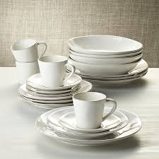marin white 20 dinnerware set crate and barrel
