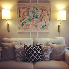 over the couch lighting plug in wall sconces for over the couch formal living room
