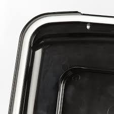 Pet Ready Exterior Doors by Iris Airtight Pet Food Storage Container Smoke Black 55 Qt