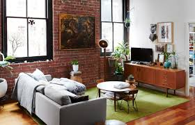 warehouse apartment with exposed brick wall in australia living