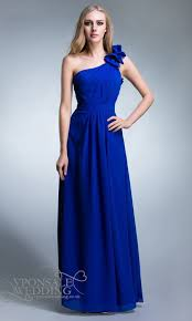 cobalt blue bridesmaid dresses blue one shoulder bridesmaid dresses dvw0120 vponsale