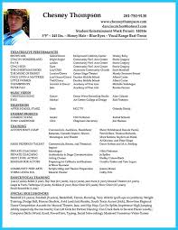 Resume For Movie Theater Job by Theatrical Resume Format Theatre Resume Template Free Acting