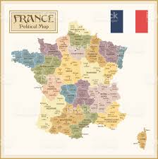 Toulouse France Map by Vintage Map Of France With Different Regions Stock Vector Art