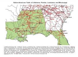 Florida Trail Map by Alabama Arkansas Louisiana Mississippi Oklahoma Texas