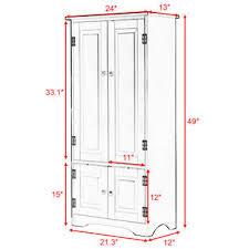 2 Door Floor Cabinet Goplus Accent Storage Cabinet Adjustable Shelves Antique 2 Door