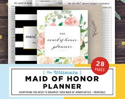 of honor planner book wedding planner printable wedding planning book printable