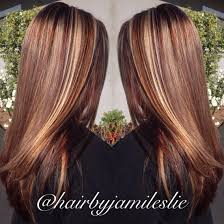 blonde beige and wine highlights and lowlights long hair with