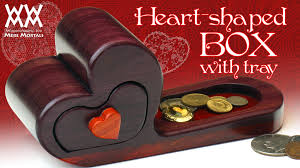 Free Wooden Keepsake Box Plans by Heart Shaped Box With Tray Classy Gift Idea Youtube