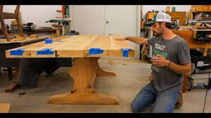 what is a trestle table ar1 building a trestle table from reclaimed white pine youtube