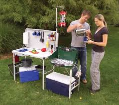 Oztrail Camp Kitchen Deluxe With Sink - amazon com coleman pack away deluxe portable kitchen camping