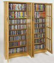 Cd And Dvd Storage Cabinet With Doors Oak Finish Cd Dvd Storage Bluray Cd Dvd Cabinets Glass Door Dvd Cd