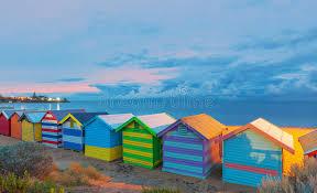 brighton beach houses australia stock image image 66118427