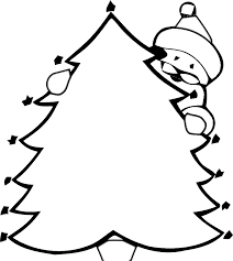 christmas tree colouring christmas tree coloring pages