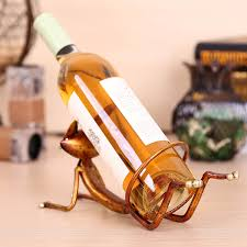 wine bottle home decor best and cheap golden tooarts yoga cat wine rack practical sculp