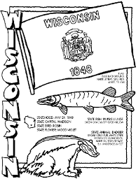 united states symbols coloring pages wisconsin state symbol coloring page by crayola print or color