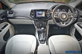 jeep dashboard jeep compass petrol 1 4 multiair at india review video price