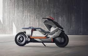 bmw electric motorrad scooter concept features touchscreen