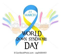 blue and yellow ribbon world day of blue yellow ribbon and colored vector