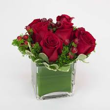 rose in glass roses in glass cube brattle square florist since 1917