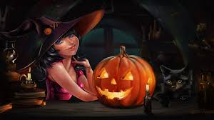 images of cute black cat halloween wallpaper sc