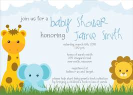 Babyshower Invitation Card Safari Baby Shower Invitations Dhavalthakur Com