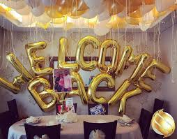 welcome home decorations balloon backdrop for a welcome back party decoration sparks