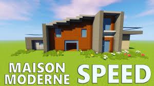 Maison Modern Minecraft by Speed Build Maison Moderne Minecraft Youtube
