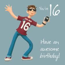 boys 16th birthday greeting card cards love kates