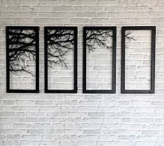 tree branch framed wall accessory decor laser cutting metal