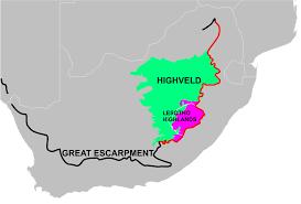 Drakensberg Mountains Map Highveld Wikipedia