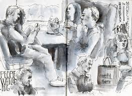 sketching people in manchester with andrea joseph u0026 koosje koene