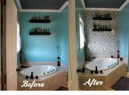 diy bathroom ideas diy glass tile accent wall in master bathroom hometalk