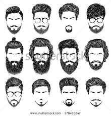 hhort haircut sketches for man a set of mens hairstyles beards and mustaches gentlmen haircuts and