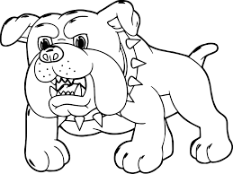 angry dog cartoon puppy coloring page wecoloringpage