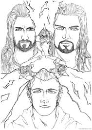 wwe coloring pages the shield coloring4free coloring4free com
