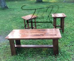 red oak table u0026 chair end tables tabula rasa