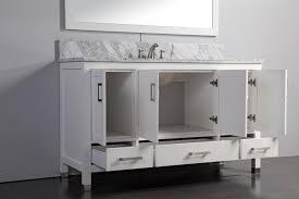 legion 60 inch traditional single sink bathroom vanity set white