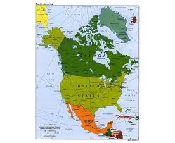United States Map With Oceans by Maps Of North America And North American Countries Political