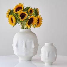 Vases Com Dora Maar White Ceramic Vase Pottery Jonathan Adler
