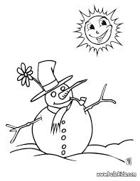 snowman coloring pages color preschool crayola snowman
