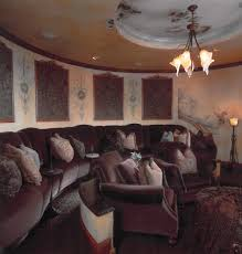 diy home theater decor home theater transitional with striped rug