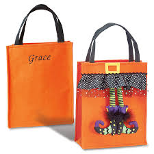 personalized halloween witch feet bag lillian vernon