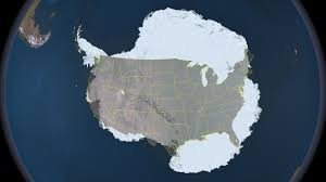 Continental United States Map by Compare The Size Of Antarctica To The Continental United States Nasa