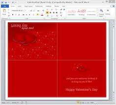 create your own valentine u0027s day card in word onsite software