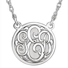 monogram necklace white gold classic monogram necklace in 14k white gold j