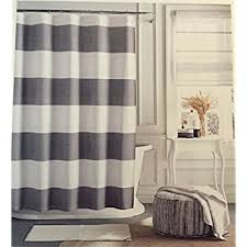 Gray And Brown Shower Curtain - amazon com cafepress grey and white stripe shower curtain